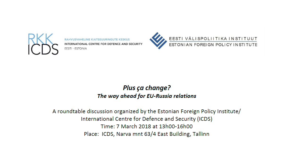 "Image for Seminar ""Plus ça change? – The way ahead for EU-Russia relations"""