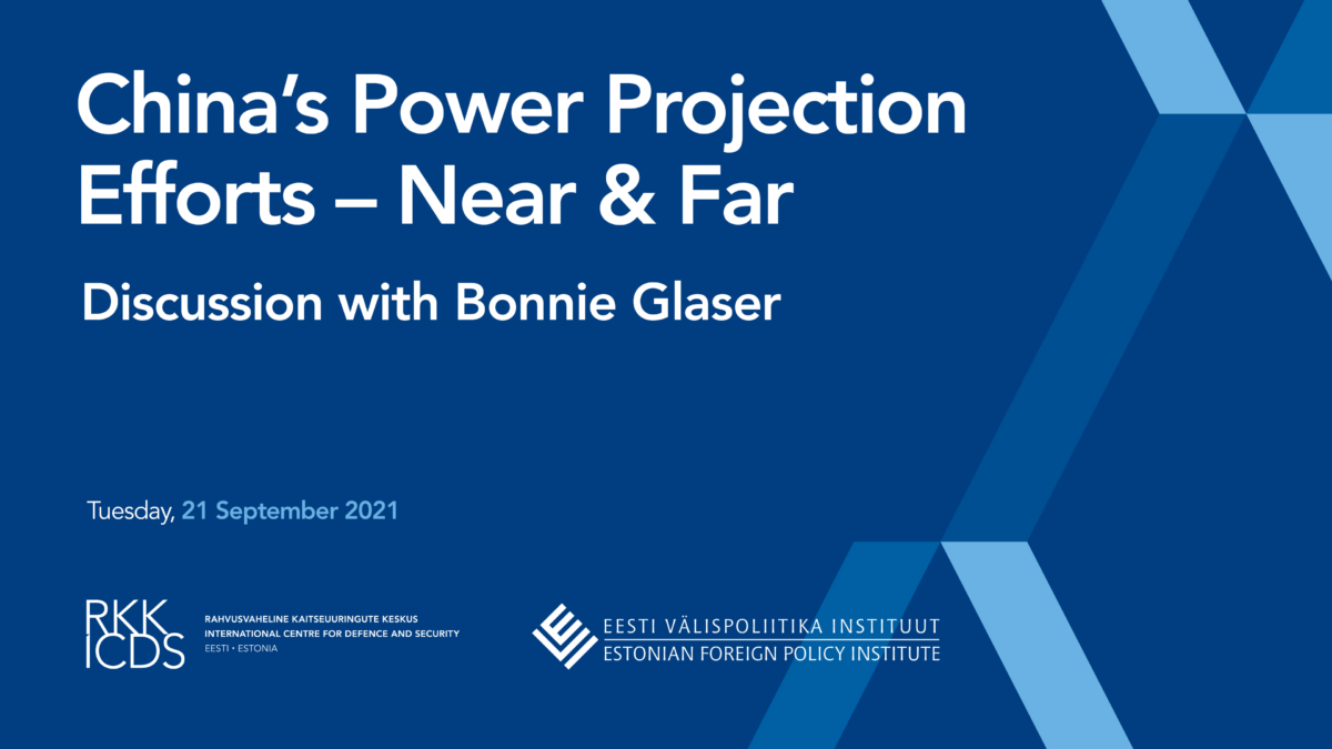 Image for Watch Now! Discussion with Bonnie Glaser: China's Power Projection Efforts – Near & Far.