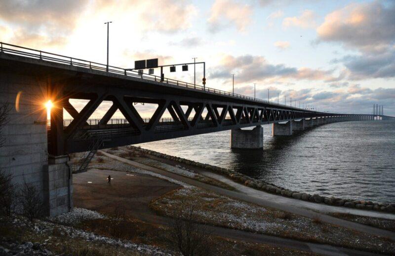 Oresund Bridge between Sweden and Denmark, in Malmo.